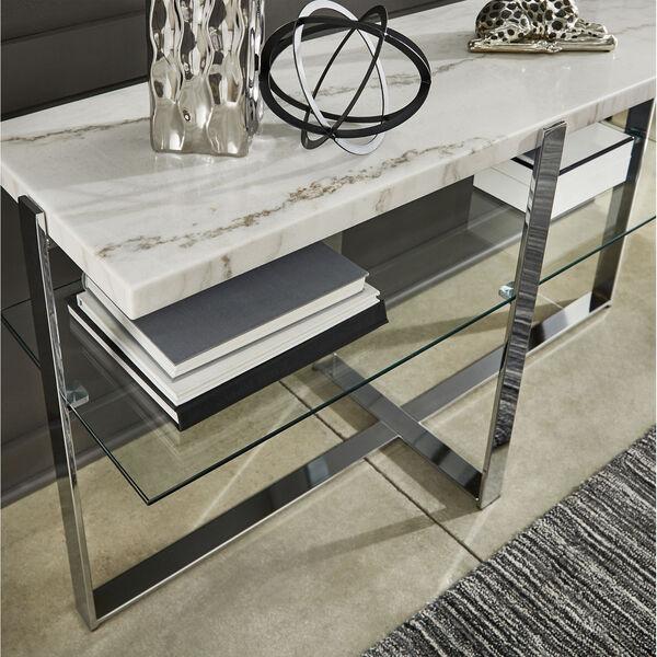 Diana Chrome Marble Top Framed Sofa Table, image 4